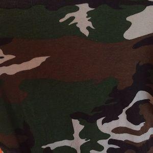 Vintage army camo print boys tshirt